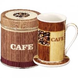 Ensemble Mug 25Cl, Sous-Bock et Boîte Métal café