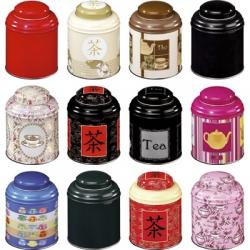 Boîte à thé japonaise Domed100g.