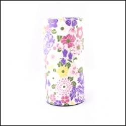 Boîte à thé japonaise  Fleurs violettes et Blanches