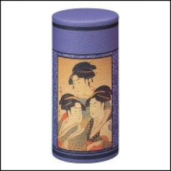Boîte à thé japonaise   Violette Geishas