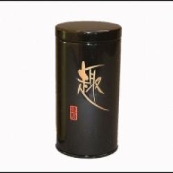 Boîte à thé noire motifs