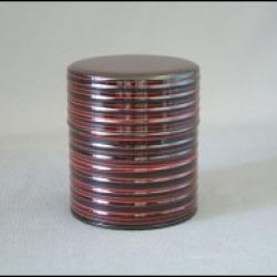 Boîte à thé japonaise rouge et noire