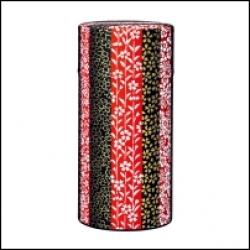 Boîte à thé japonaise Washi fleurs noires et roses