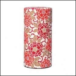 Boîte à thé japonaise Washi fleurs roses et blanches