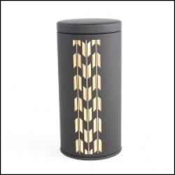 Boîte à thé japonaise noire flèches