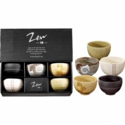 Coffret 5 bols 35 cl motifs assortis collection Zen