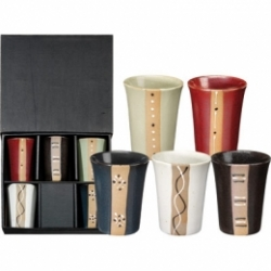 Coffret 5 bols 25 cl motifs assortis collection Zen