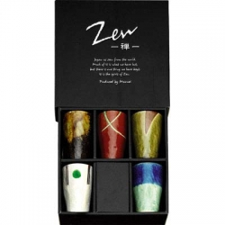 Coffret de 5 gobelets 15 cl 5 motifs collection Zen