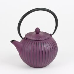 Théière en fonte boule aubergine 1 litre