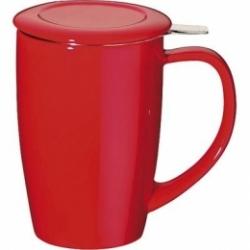 Tisanière Curve rouge 45 cl