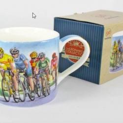 Mug cycliste et sa boîte cadeau