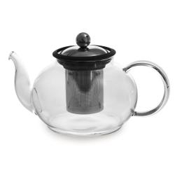 Théière en verre Boro  Noir 1 litre avec filtre amovible
