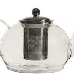 Théière en verre 1,2L avec filtre en inox