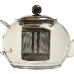 Théière en verre 1L avec filtre en inox