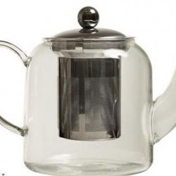 Théière en verre 85Cl avec filtre en inox
