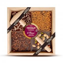 Les quatre Chocs au chocolat noir
