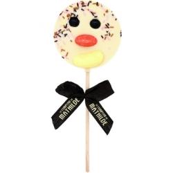 sucette-chocolat-blanc-clown Sucettes chocolat noir comptoir de Mathilde comptoir de Mathilde