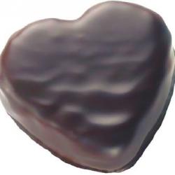 Coeur  praliné chocolat noir