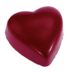 Coeur rubis praliné chocolat noir