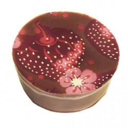 Ganache chocolat au lait à la fraise