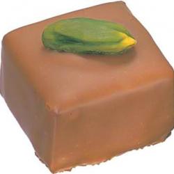 Ganache chocolat au lait pistache