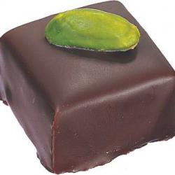 Ganache chocolat noir pistache