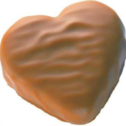 Petit coeur praliné chocolat au lait