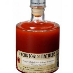 Vinaigre à la pulpe de Tomate et Piment d'espelète : Comptoir de Mathilde