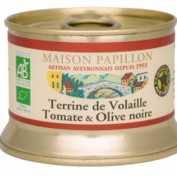 Terrine de volaille Tomate et olives noires Bio