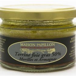Terrine au foie gras au Morille