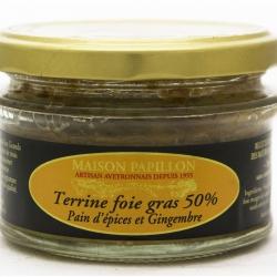 Terrine au foie gras au pain d'épices et Gingembre