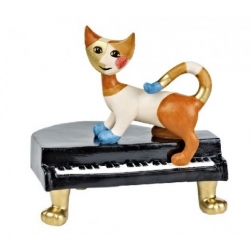 Figurine chat sur piano Rosina Watchmeister