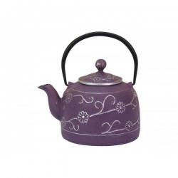 theiere-en-fonte  romantique violet 90 cl