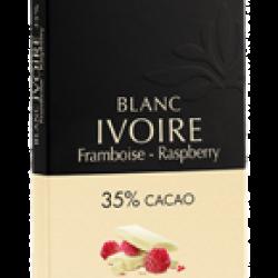 Chocolat Blanc Ivoire Pépites de framboise